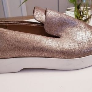 New DONNA KARAN   Pia Patent Leather Loafers 8